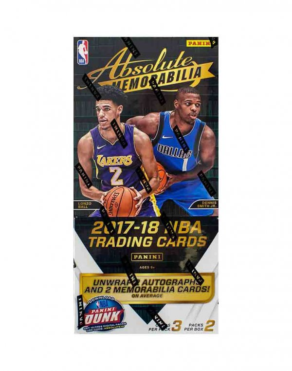 2017/18 Panini NBA Basketball Absolute Memorabilia Hobby Box
