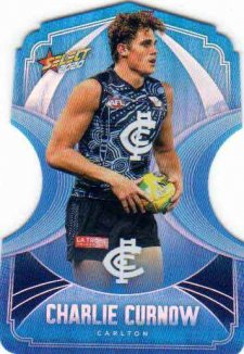 2020 AFL Footy Stars Ice Blue Diecuts BDC18 Charlie Curnow Blues