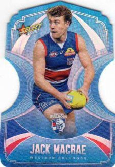 2020 AFL Footy Stars Ice Blue Diecuts BDC142 Jackson Macrae Bulldogs