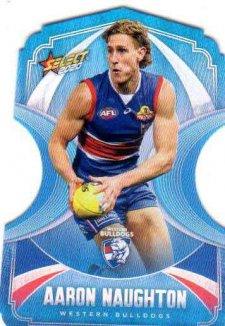 2020 AFL Footy Stars Ice Blue Diecuts BDC143 Aaron Naughton Bulldogs