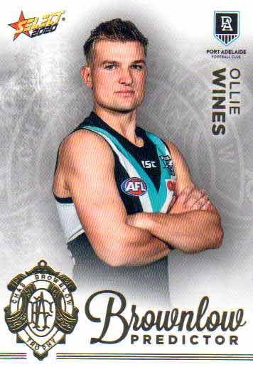 2020 AFL Footy Stars Brownlow Predictor BPG51 Ollie Wines Power