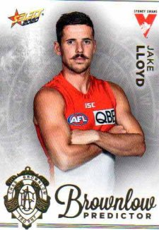 2020 AFL Footy Stars Brownlow Predictor BPG62 Jake Lloyd Swans