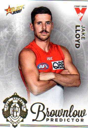 2020 AFL Footy Stars Brownlow Predictor BPG62 Jake Lloyd Swans