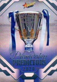 2020 AFL Footy Stars Premiership Predictor Silver PP24 North Melbourne Kangaroos