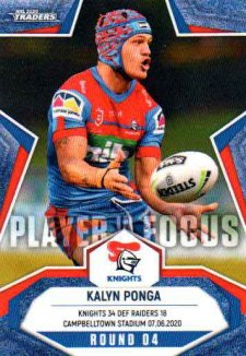 2020 NRL Traders Player in Focus Round 4 IF4 Kalyn Ponga Knights