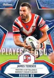 2020 NRL Traders Player in Focus Round 5 IF5 James Tedesco Roosters