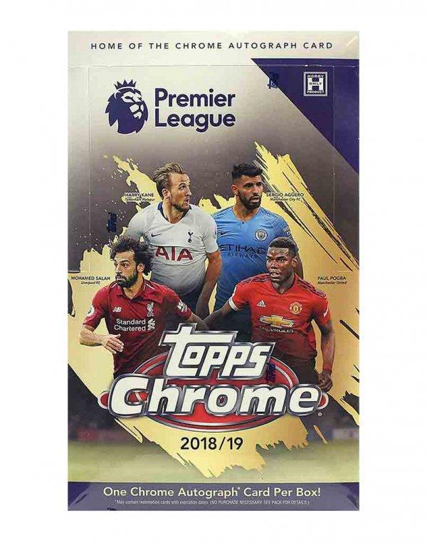 2018/19 Topps Chrome Premier League Soccer Hobby Box