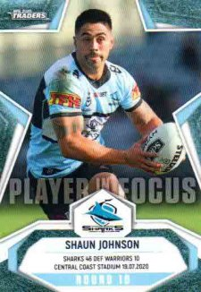 2020 NRL Traders Player in Focus Round 10 IF10 Shaun Johnson Sharks
