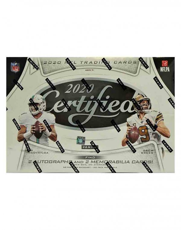 2020 Panini NFL Football Certified Hobby Box