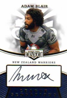 2020 NRL Elite League Sensations Signature LS15 Adam Blair Warriors