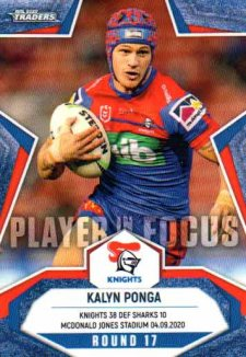 2020 NRL Traders Player in Focus Round 17 IF17 Kalyn Ponga Knights