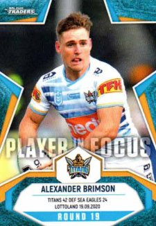 2020 NRL Traders Player in Focus Round 19 IF19 Alexander Brimson Titans