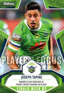 2020 NRL Traders Player in Focus Finals Week 2 IF FW2 Joseph Tapine Raiders