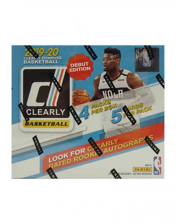 2019-20 Panini NBA Basketball Clearly Donruss Hobby Box