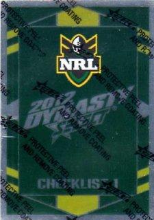 2012 NRL Dynasty Parallel SP1 Checklist 1