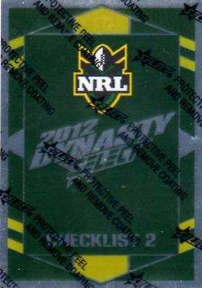 2012 NRL Dynasty Parallel SP2 Checklist 2