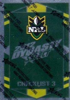 2012 NRL Dynasty Parallel SP3 Checklist 3