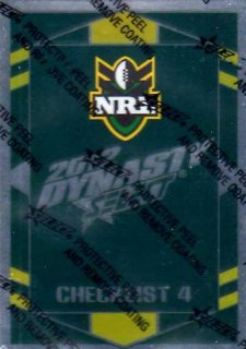 2012 NRL Dynasty Parallel SP4 Checklist 4