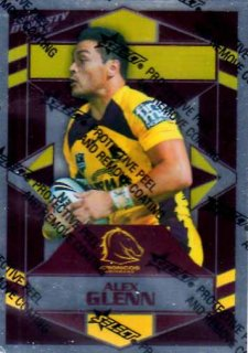 2012 NRL Dynasty Parallel SP7 Alex Glenn Broncos