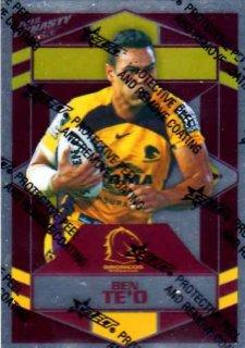 2012 NRL Dynasty Parallel SP14 Ben Te'o Broncos