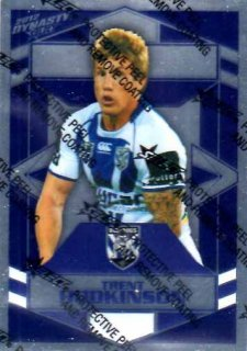 2012 NRL Dynasty Parallel SP34 Trent Hodkinson Bulldogs