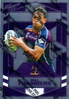 2012 NRL Dynasty Parallel SP78 Will Chambers Storm