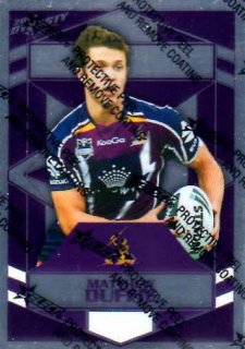 2012 NRL Dynasty Parallel SP80 Matthew Duffie Storm