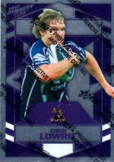 2012 NRL Dynasty Parallel SP83 Todd Lowrie Storm