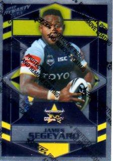 2012 NRL Dynasty Parallel SP106 James Segeyaro Cowboys