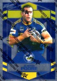 2012 NRL Dynasty Parallel SP121 Justin Poore Eels