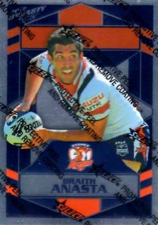 2012 NRL Dynasty Parallel SP161 Braith Anasta Roosters