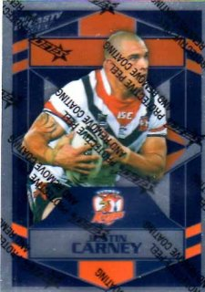 2012 NRL Dynasty Parallel SP163 Juston Carney Roosters