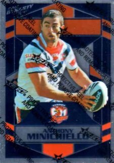 2012 NRL Dynasty Parallel SP168 Anthonh Minichiello Roosters