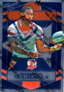 2012 NRL Dynasty Parallel SP169 Frank-Paul Nuuausala Roosters