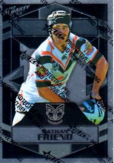 2012 NRL Dynasty Parallel SP174 Nathan Friend Warriors