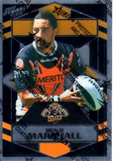 2012 NRL Dynasty Parallel SP192 Benji Marshall Tigers