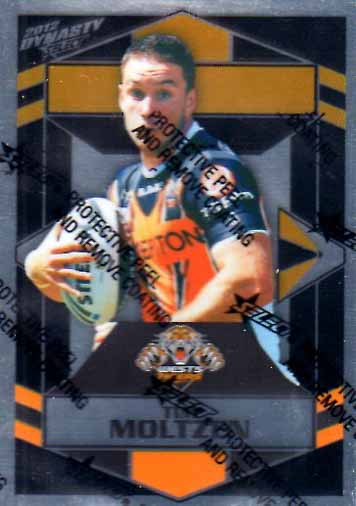 2012 NRL Dynasty Parallel SP193 Tim Moltzen Tigers
