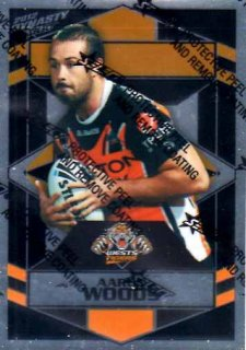 2012 NRL Dynasty Parallel SP196 Aaron Woods Tigers