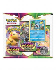 Pokemon TCG Sword & Shield Vivid Voltage Three Booster Blister