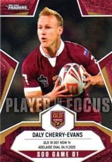 2020 NRL Traders Player in Focus State of Origin IF SOO1 Daly Cherry-Evans QLD