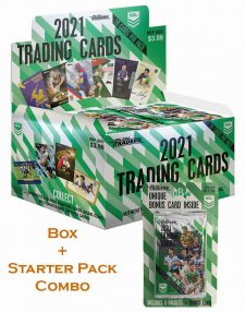 2021 TLA NRL Traders Sealed Trading Card Box and Starter Pack Combo