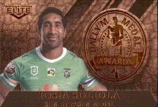 2020 NRL Elite Dally M Awards Priority DM18 Iosia Soliola Raiders