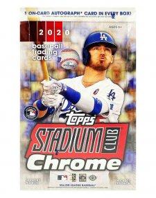 2020 Topps MLB Baseball Stadium Club Chrome Hobby Box
