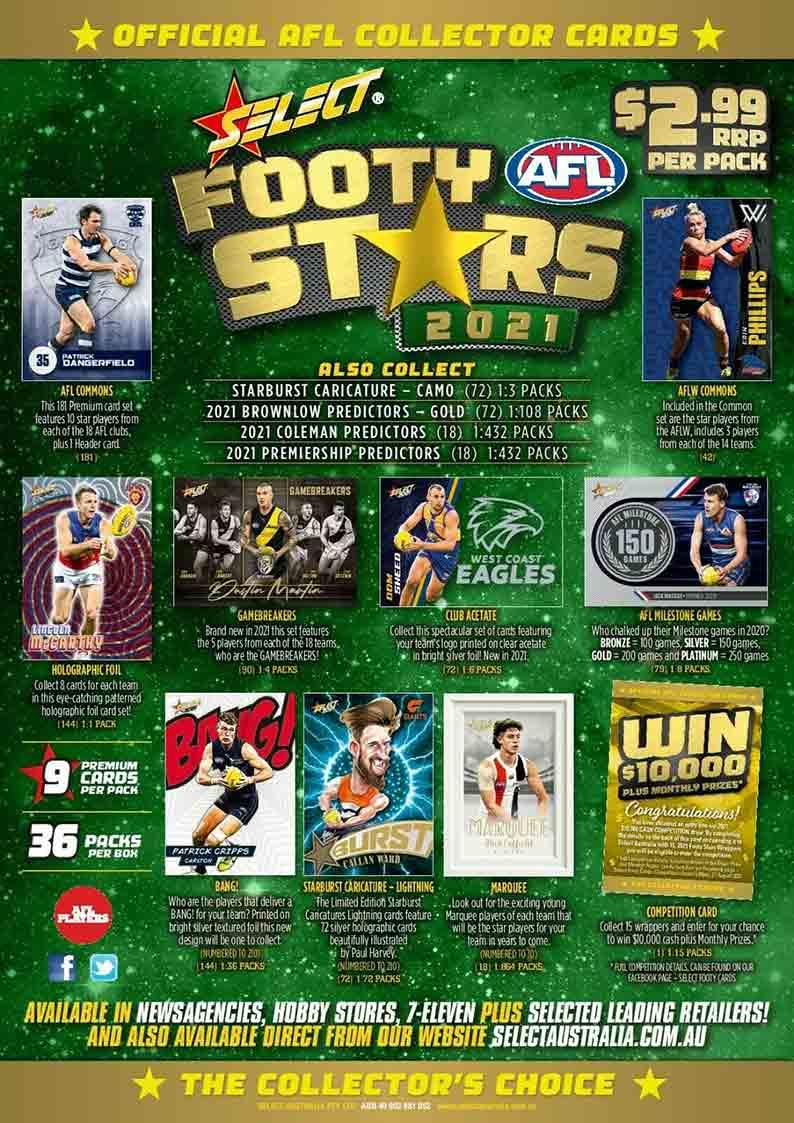 2021 AFL Footy Stars Flyer