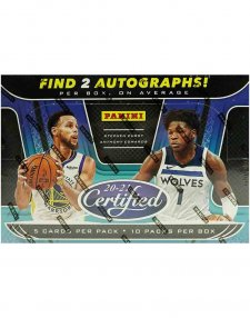 2020-21 Panini NBA Basketball Certified Hobby Box