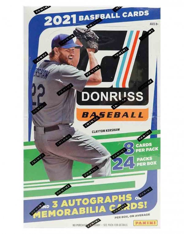 2021 Panini Donruss MLB Baseball Hobby Box