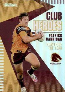 2021 NRL Traders Club Heroes CH2 Patrick Carrigan Broncos