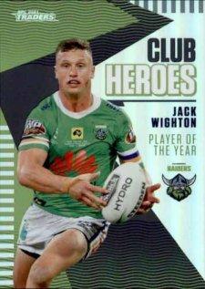 2021 NRL Traders Club Heroes CH4 Jack Wighton Raiders