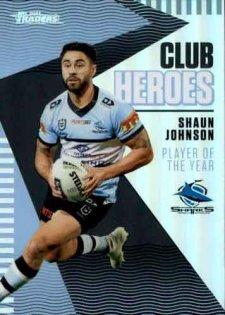 2021 NRL Traders Club Heroes CH7 Shaun Johnson Sharks