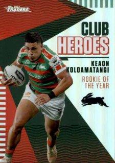 2021 NRL Traders Club Heroes CH24 Keaon Koloamatangi Rabbitohs